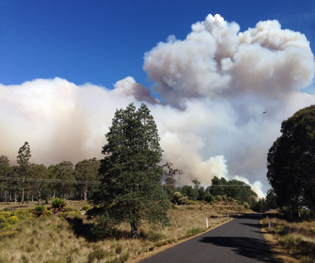Bushfire at Lorinna, Tasmania